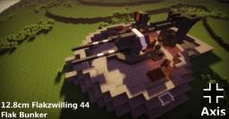 FLAK 44  12.8cm  AA Bunker Minecraft Map & Project