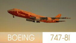 Boeing 747-8I Minecraft Map & Project