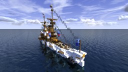 Fictional USS Protected Cruiser - Olympia-Class inspired Minecraft Map & Project