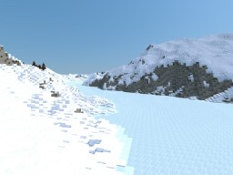 Snowy mountain range Minecraft Project