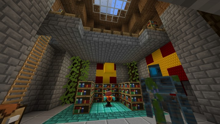 Building Showing off some blocks and the Iron Golem