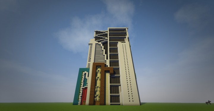 how to build a modern skyscraper in minecraft