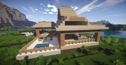 Cool Wooden Mansion Minecraft Map & Project