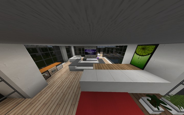 how to build a medium sized modern house in minecraft