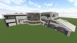 Futuristic modern house Minecraft