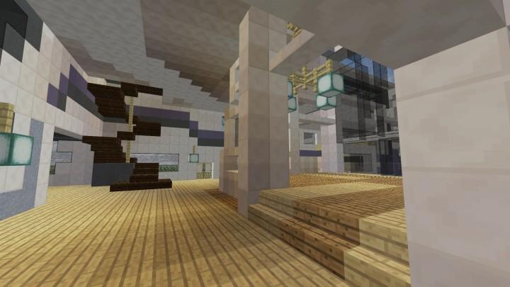 Futuristic modern house Minecraft Project