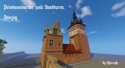 Peinkammertor und Stockturm, Danzig. Minecraft Project