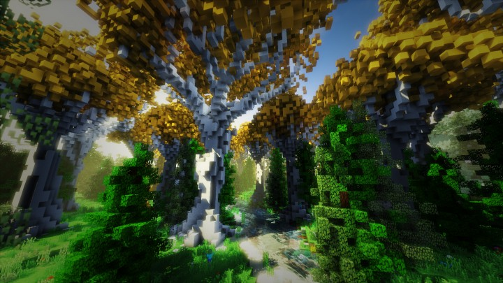 Lothlorien-inspired forest