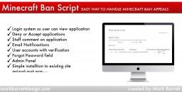 Minecraft Ban Script (PHP Ban Script) Minecraft Mod