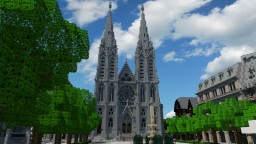 Notre Dame de l'Assomption Cathedral, Clermont-Ferrand Minecraft Map & Project