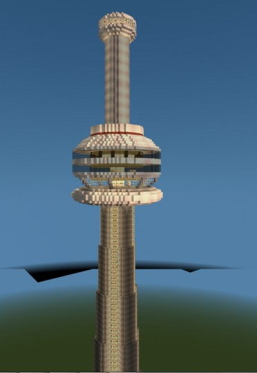 Cn Tower Toronto Cannada Minecraft Map