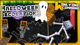 Spooky halloween decorations in one command Minecraft