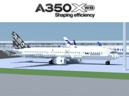 Airbus A350-900 (Prototype MSN 1-5) Minecraft Map & Project