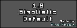 Simplistic Default 1.9 Minecraft Texture Pack