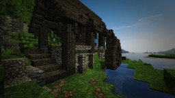 Medieval Sawmill with water wheel [schematic] Minecraft Project