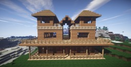 Beautiful Wooden Hut Minecraft Map & Project
