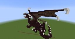 Old build - netherbrick dragon Minecraft