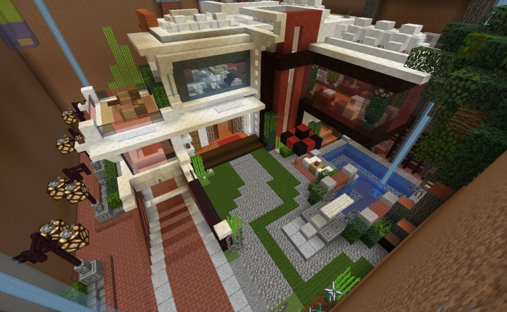 Modern House V1 0 Hkphc First Floor Interior Minecraft