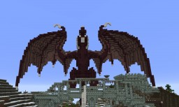 Dragon perched on bridge Minecraft Project
