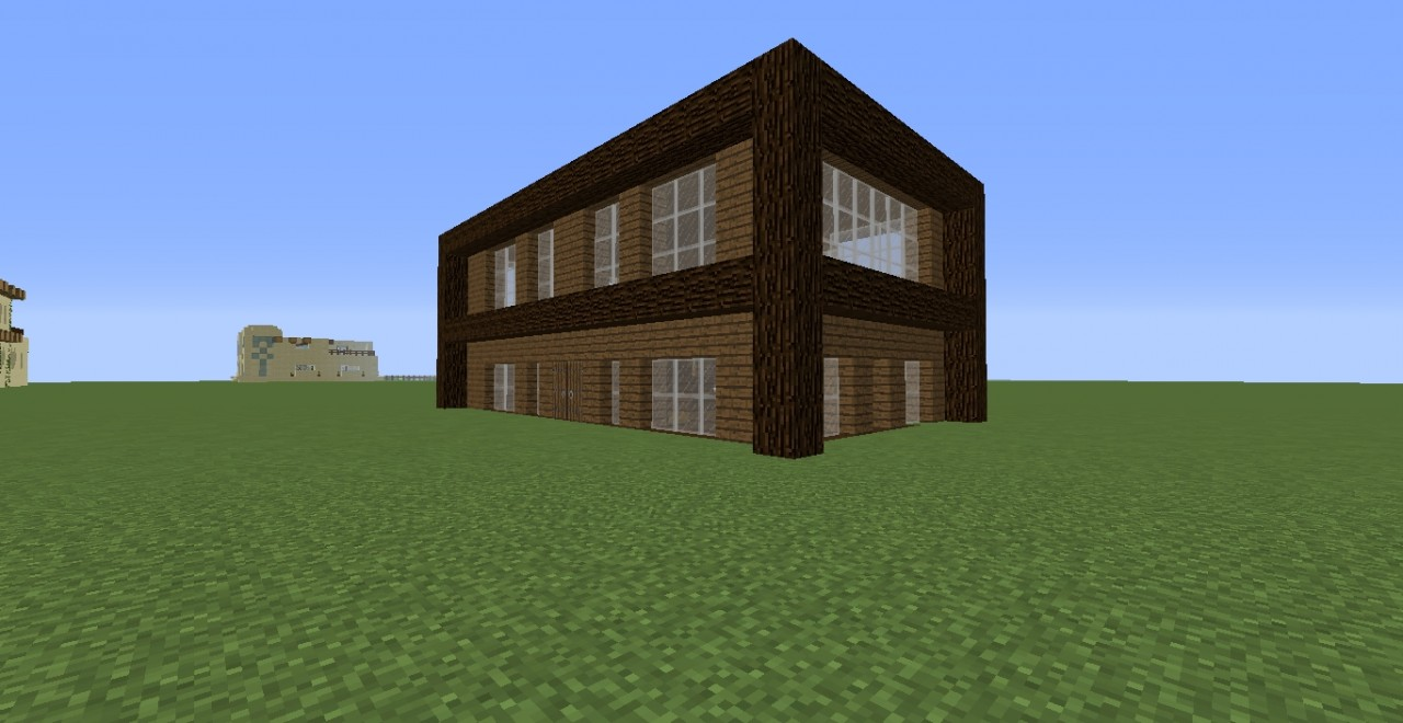 Wood Modern House Minecraft Project