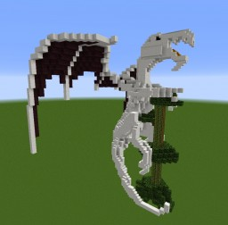 Quartz Dragon on tree Minecraft Project