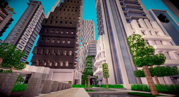 Geo Metric Modern Office Minecraft Project