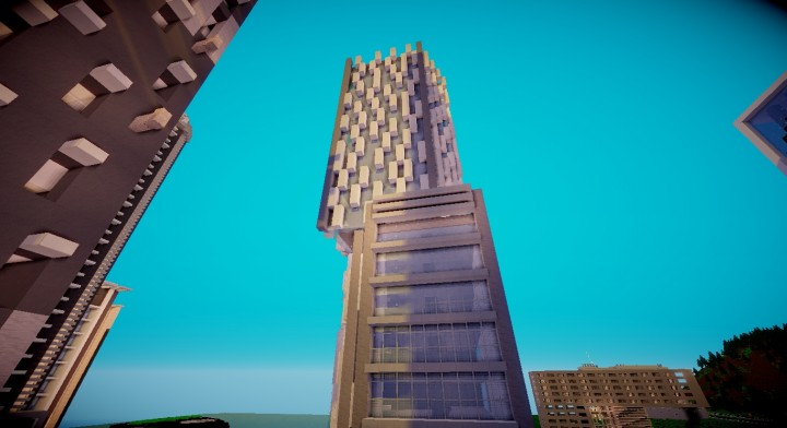 Geo Metric Modern Office Minecraft Project