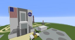 NASA Vehicle Assembly Building and Saturn V Rocket Minecraft