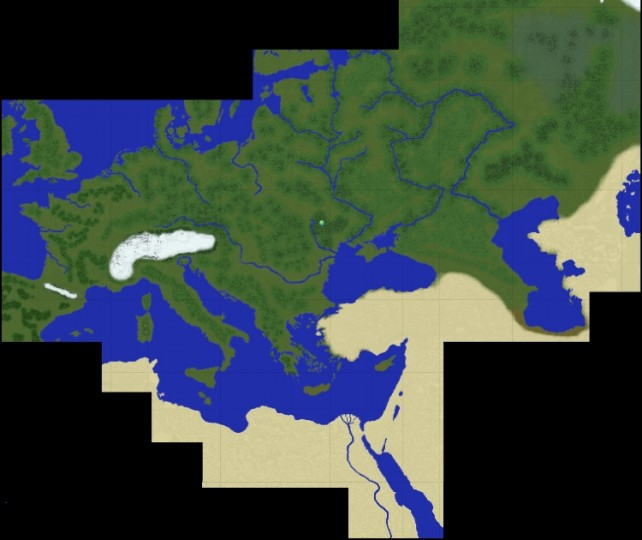 Map Of Europe And Northern Africa Minecraft Project