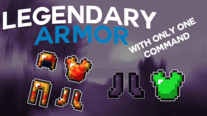 Legendary armor with only one command block minecraft project