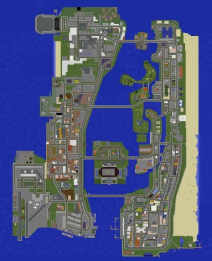Minecraft Vice City GTA Vice City Minecraft Project