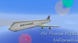 Air France A380 Minecraft Map & Project