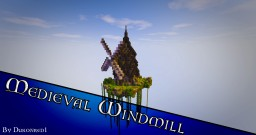 Medieval Windmill - Timelapse + Download - #WeAreConquest Minecraft Project