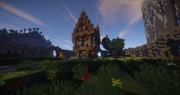Medieval House with Garden and Wall | Built by Team Sublis Minecraft Map & Project
