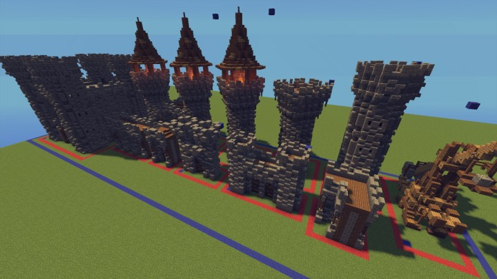 Download Castle Walls And Towers Pack Minecraft Map