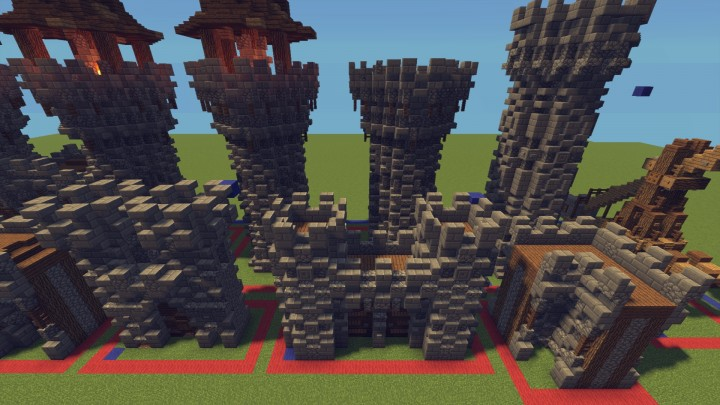 download  castle walls and towers pack minecraft project