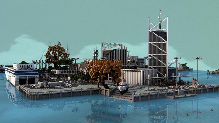 ForestCove Ferry Terminal and Coast Guard - Render by Headshotwar