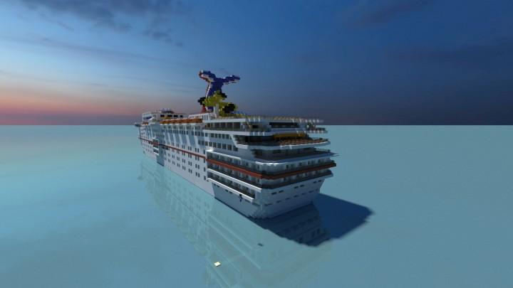 carnival fascination cruise ship  full interior  minecraft project