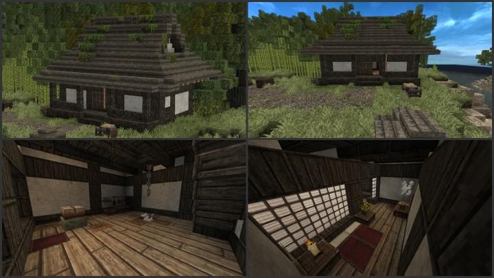 Japanese Village House Minecraft Project