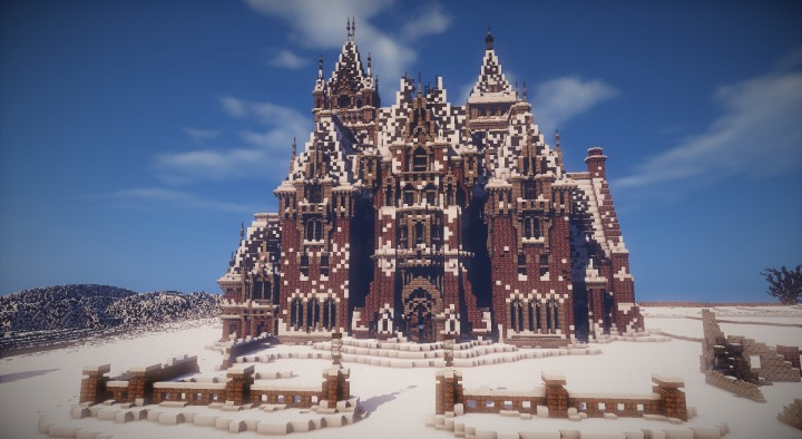 Crimson Peak Allerdale Hall Gothic Horror Minecraft