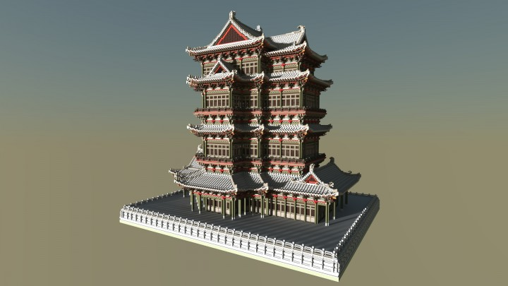 Chinese Ancient Architecture 2 Minecraft Project