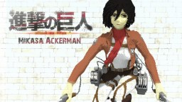 Shingeki No kyojin - Mikasa Ackerman Minecraft Project
