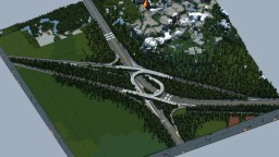 Highways interchange Clermont-Gallitzin [WoK] Minecraft