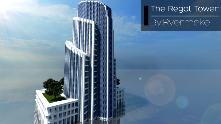 Regal Tower Skyscraper 15 Minecraft Project