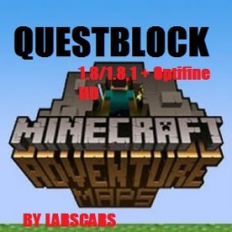 Questblock Adventure Map V0.0.1 [HALLOWEEN VERSION TO 20.11] [1.8/1.8.1] +Optifine 1.8 Minecraft Map & Project