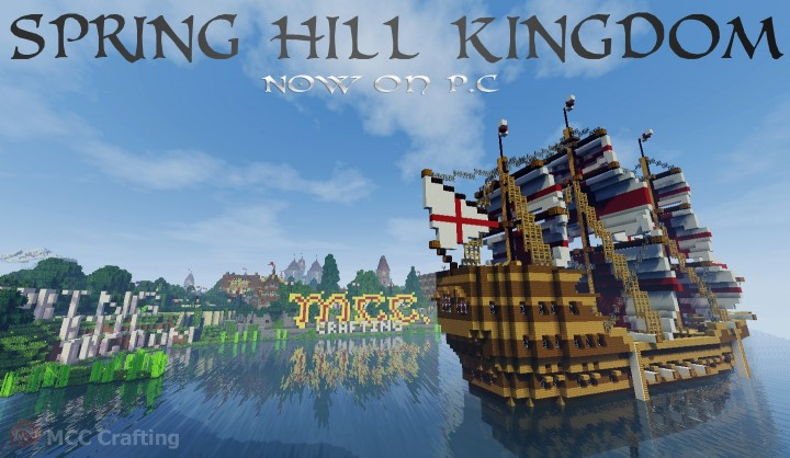 SPRING HILL KINGDOM, My first Minecraft world now on P.C Boat Ship Galleon Rear Bback Of Boat