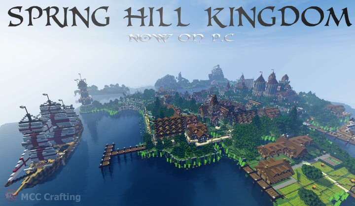 SPRING HILL KINGDOM, My first Minecraft world now on P.C South East Village  Farm
