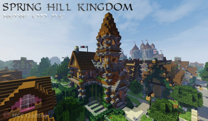 SPRING HILL KINGDOM, My first Minecraft world now on P.C South Village Church