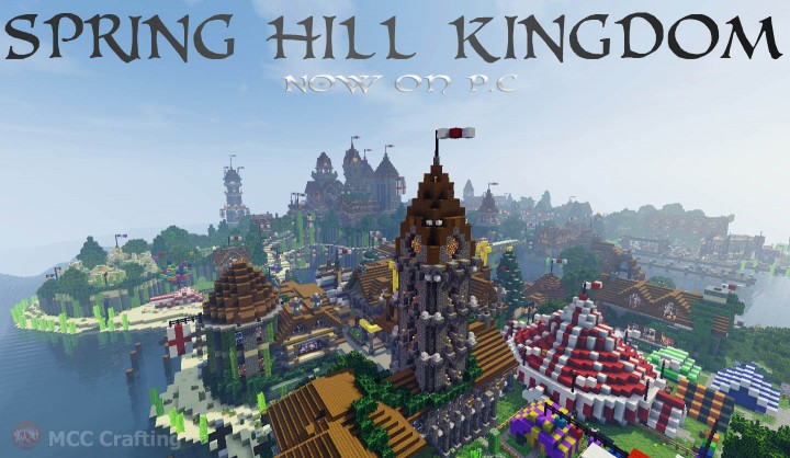 SPRING HILL KINGDOM, My first Minecraft world now on P.C North Village Church  Circus