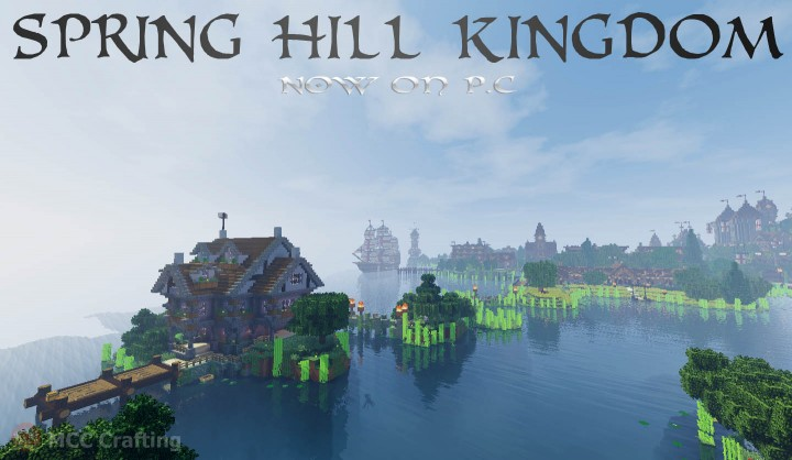 SPRING HILL KINGDOM, My first Minecraft world now on P.C Island Manor House